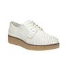 Svetlé kožené poltopánky bata, biela, 526-1613 - 13