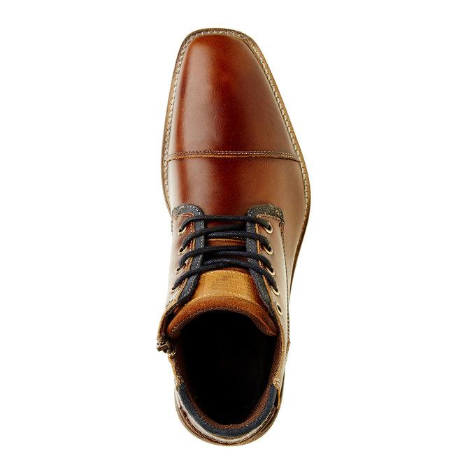 Kožená členková obuv pánska bata, hnedá, 894-4620 - 19
