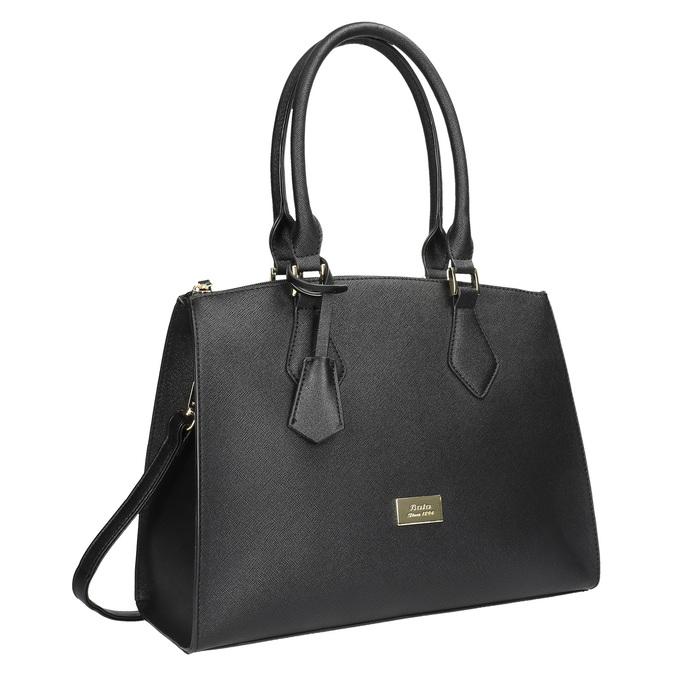 Čierna dámská kabelka s pevnými rúčkami bata, čierna, 961-6646 - 13