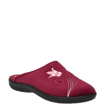 Dámska domáca obuv s výšivkou bata, červená, 579-5603 - 13