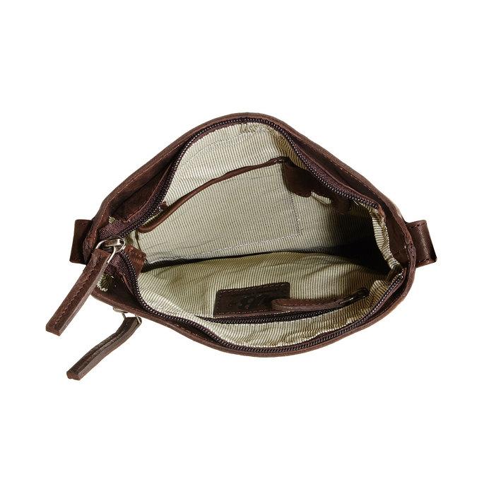 Kožená Crossbody taška bata, hnedá, 964-4113 - 15
