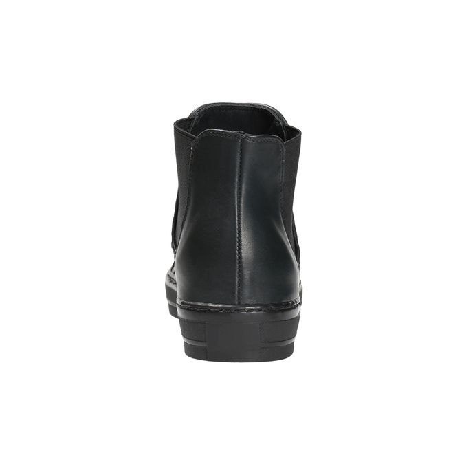 Kožená členková obuv so zvieracím vzorom bata, čierna, 546-6601 - 17