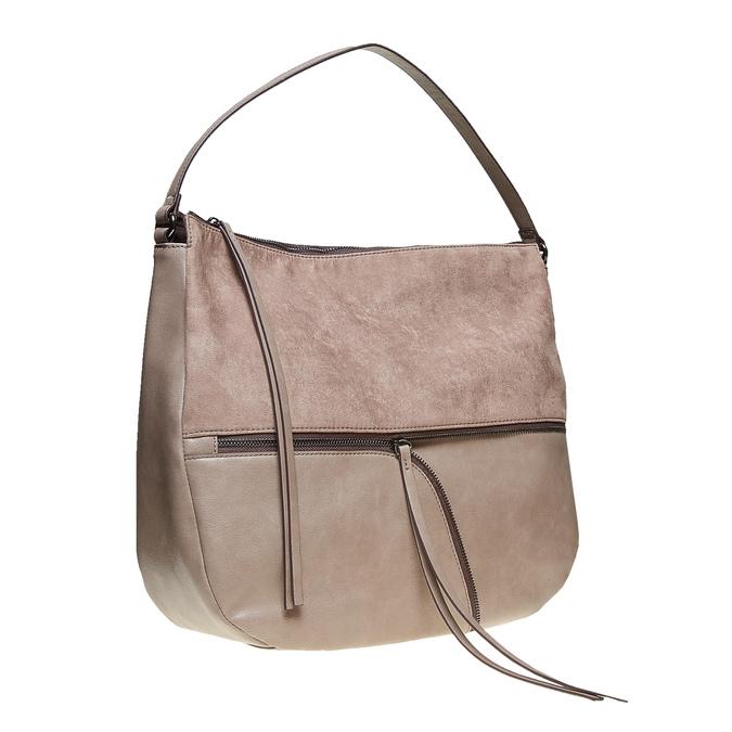 Hobo kabelka so zipsami bata, béžová, 969-2460 - 13