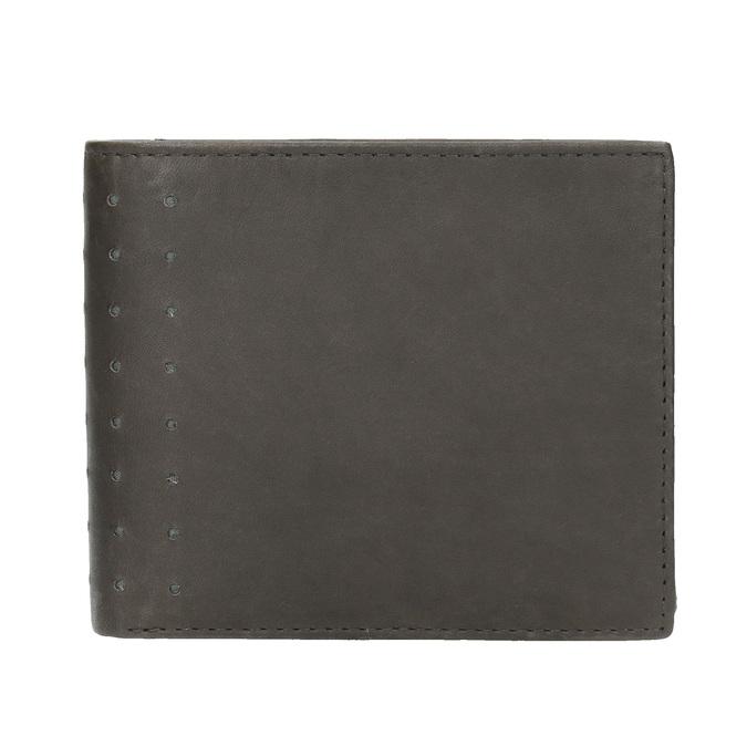 Kožená peňaženka s perforáciou bata, čierna, 944-6175 - 26