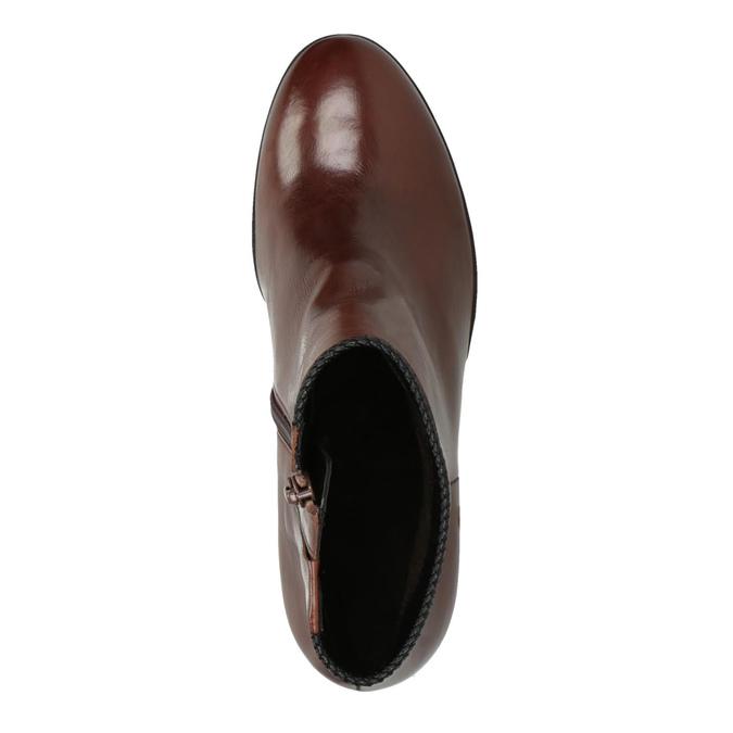 Dámska členková obuv na podpätku gabor, hnedá, 794-3019 - 19
