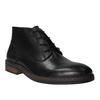 Kožená členková obuv v štýle Chukka Boots bata, čierna, 824-6677 - 13