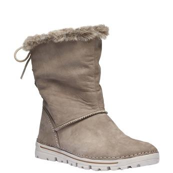 Dámske zimné topánky s kožúškom weinbrenner, béžová, 596-2334 - 13