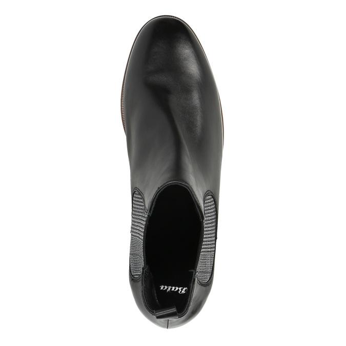 Dámske kožené Chelsea Boots bata, čierna, 596-6607 - 19
