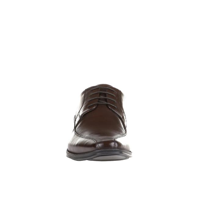 Ležérne kožené poltopánky na výraznej podrážke bata, hnedá, 824-4698 - 16