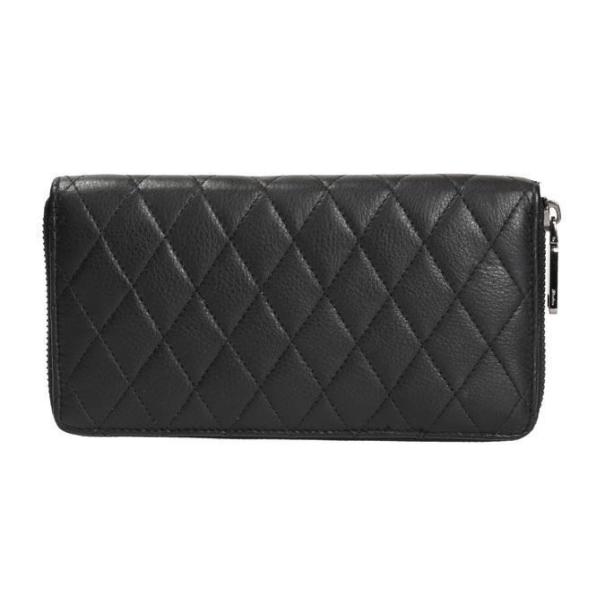 Dámska kožená peňaženka s prešívaním bata, čierna, 944-6164 - 19