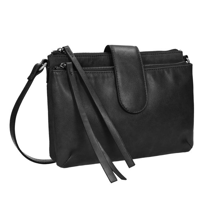 Menšia kabelka cez rameno bata, čierna, 969-6458 - 13