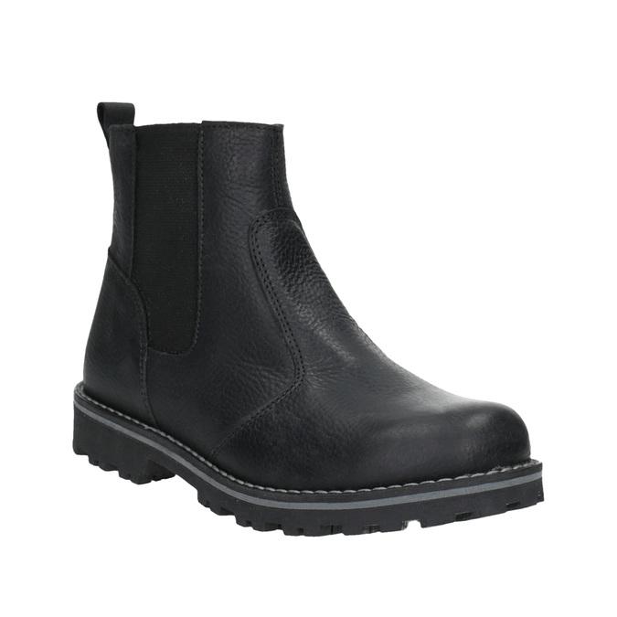 Detská kožená obuv nad členky mini-b, čierna, 394-6316 - 13