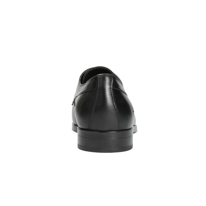 Pánske kožené poltopánky čierne bata, čierna, 824-6711 - 17