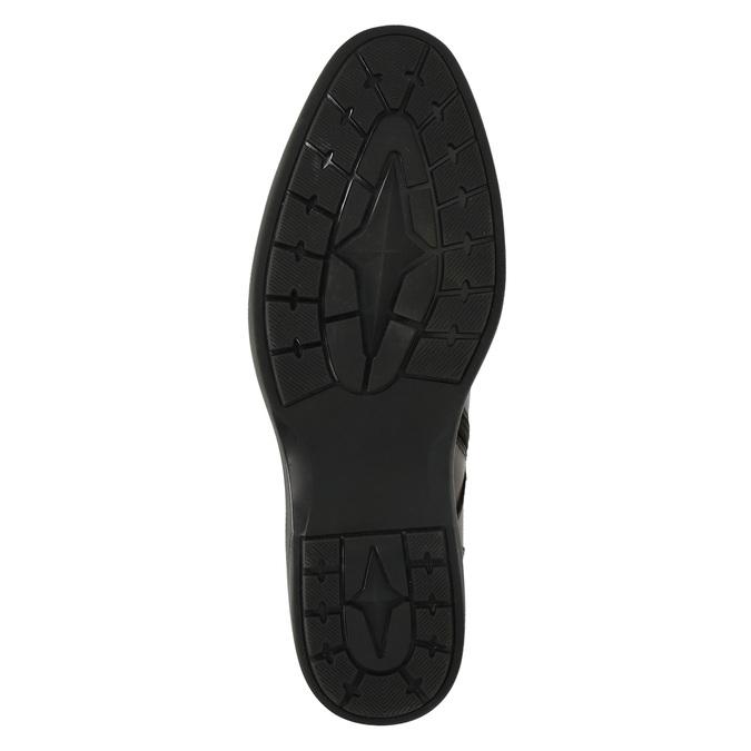 Kožená pánska obuv ku členkom bata, hnedá, 894-4671 - 26