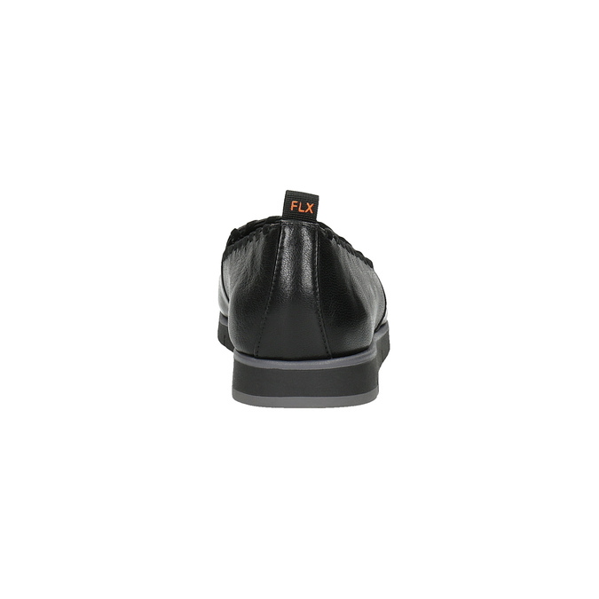 Dámske kožené Slip-on s obšitím flexible, čierna, 514-6257 - 17