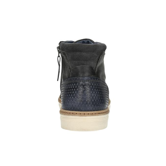 Kožené členkové tenisky so zateplením bata, šedá, 896-2651 - 17