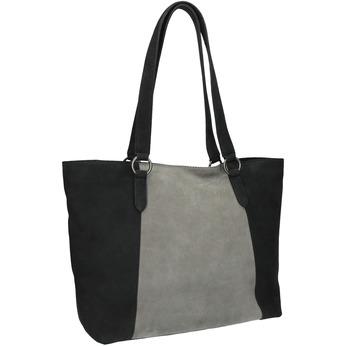 Dámská kožená kabelka bata, čierna, 966-6200 - 13