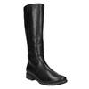 Čierne kožené čižmy šírky H bata, čierna, 596-6611 - 13