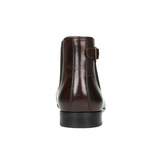 Pánska kožená členková obuv bata, hnedá, 896-4655 - 17