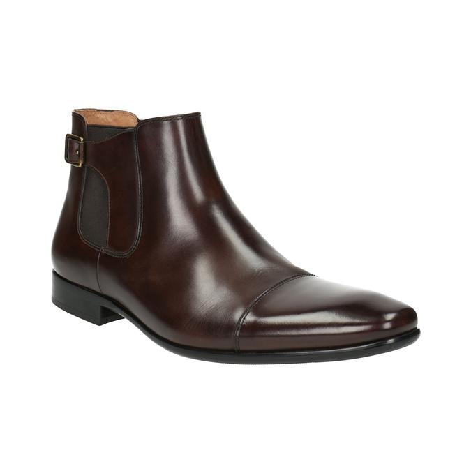 Pánska kožená členková obuv bata, hnedá, 896-4655 - 13