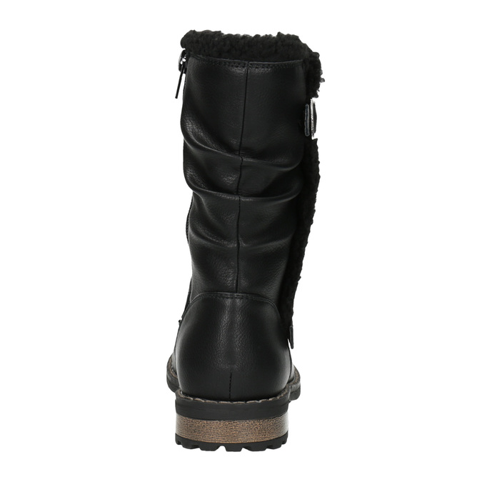 Dievčenské zateplené čižmy mini-b, čierna, 391-6653 - 17