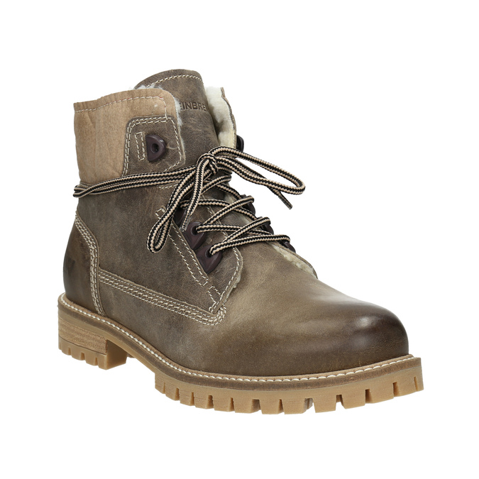 Weinbrenner Kožená zimná obuv s kožúškom - Zľavy  e722bcc0c3d