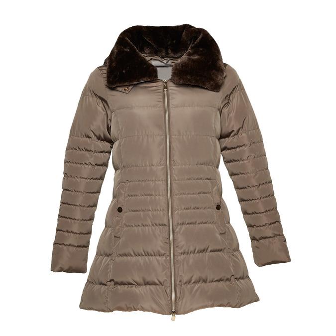 Dlhšia zimná bunda bata, hnedá, 979-8649 - 13