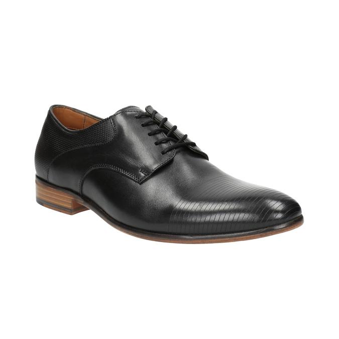 Čierne celokožené poltopánky pánske bata, čierna, 826-6778 - 13