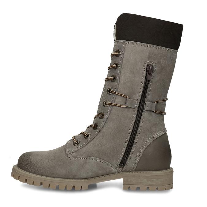 Dámska zimná obuv šnurovacia weinbrenner, šedá, 593-2476 - 17