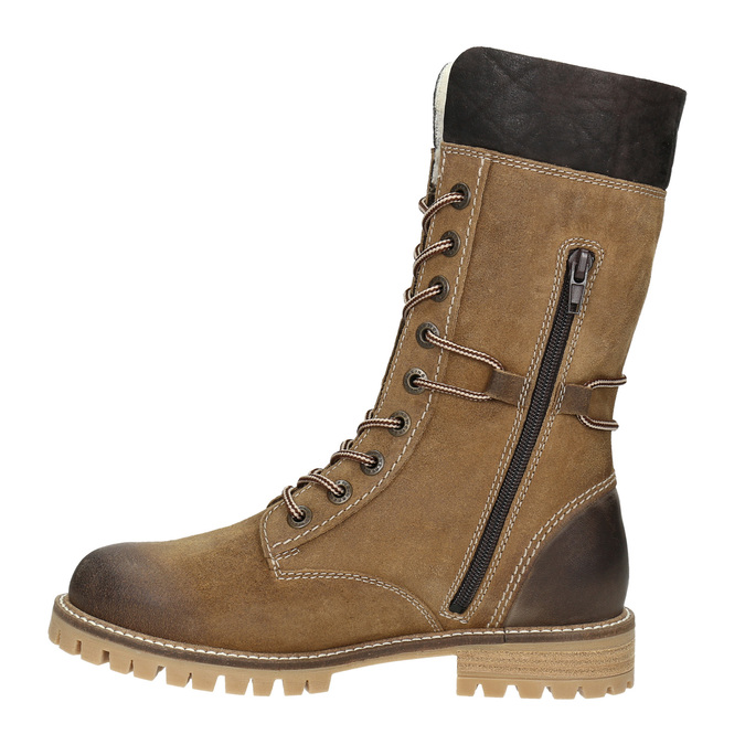 Dámska zimná obuv s kožúškom weinbrenner, hnedá, 593-8476 - 15