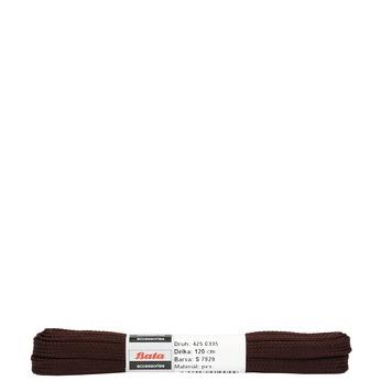 Hnedé ploché šnúrky bata, hnedá, 901-4120 - 13