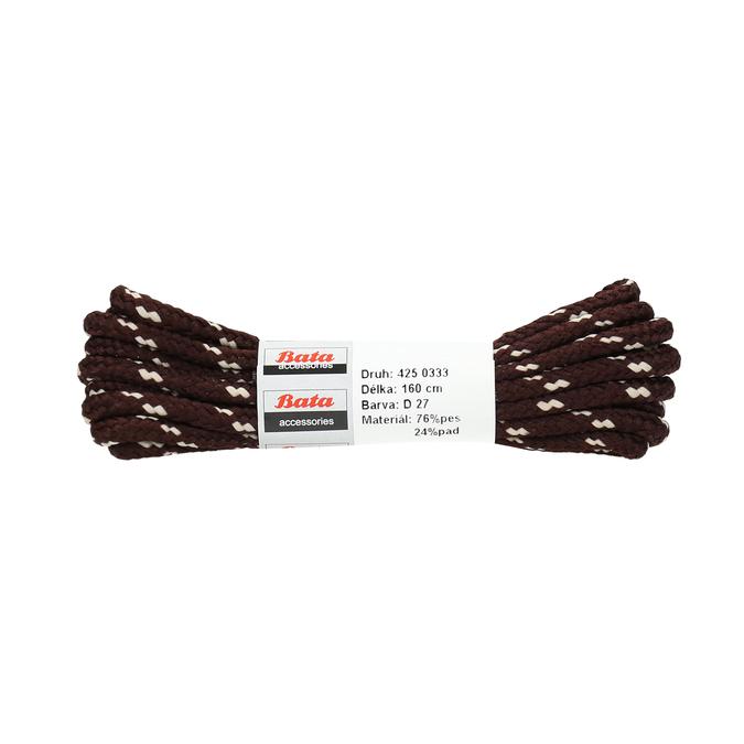 Guľaté šnúrky bata, hnedá, 901-4162 - 13