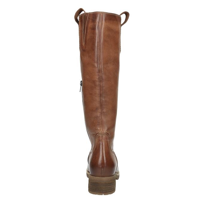Hnedé kožené čižmy bata, hnedá, 594-4613 - 17