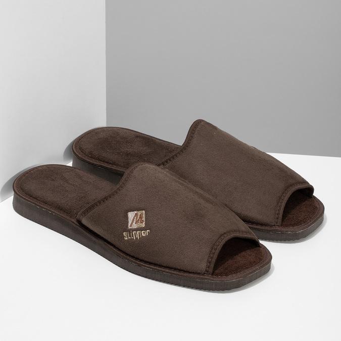 Pánska domáca obuv bata, hnedá, 879-4606 - 26