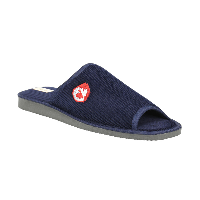 Pánska domáca obuv bata, modrá, 879-9608 - 13