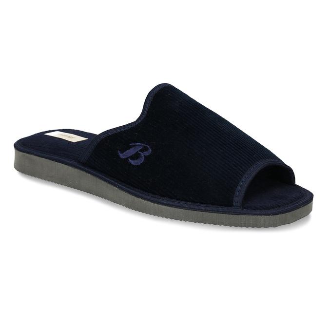 Pánska domáca obuv bata, modrá, 879-9609 - 13