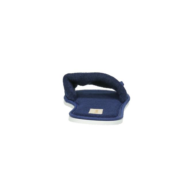 Dámska domáca obuv s mašličkou bata, modrá, 579-9609 - 17