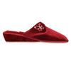 Dámska domáca obuv na klínovom podpätku bata, červená, 679-5607 - 15