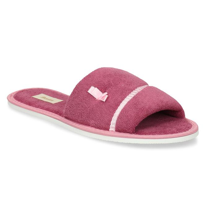Dámske papuče s mašličkou bata, ružová, 579-5609 - 13