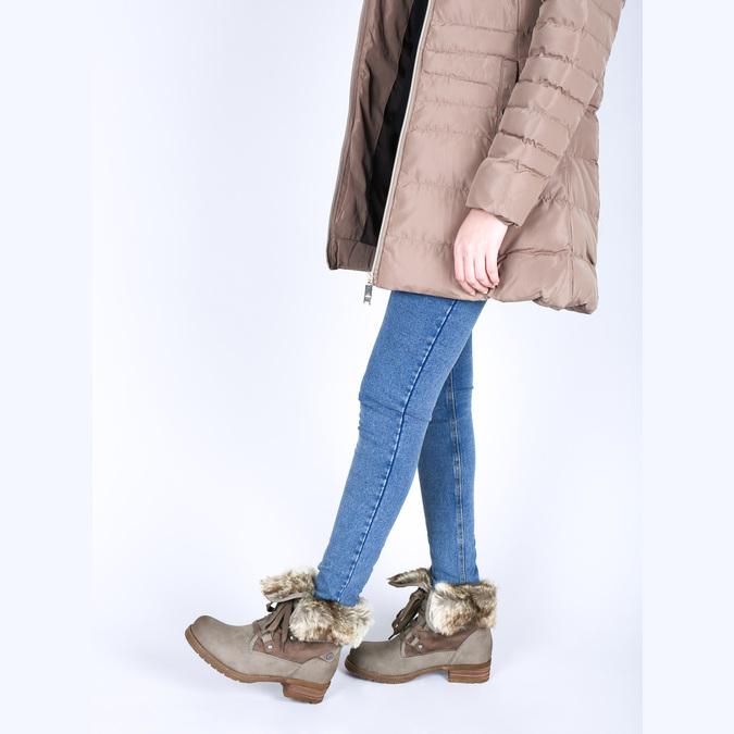 Dámska zimná obuv s kožúškom bata, hnedá, 591-3605 - 18