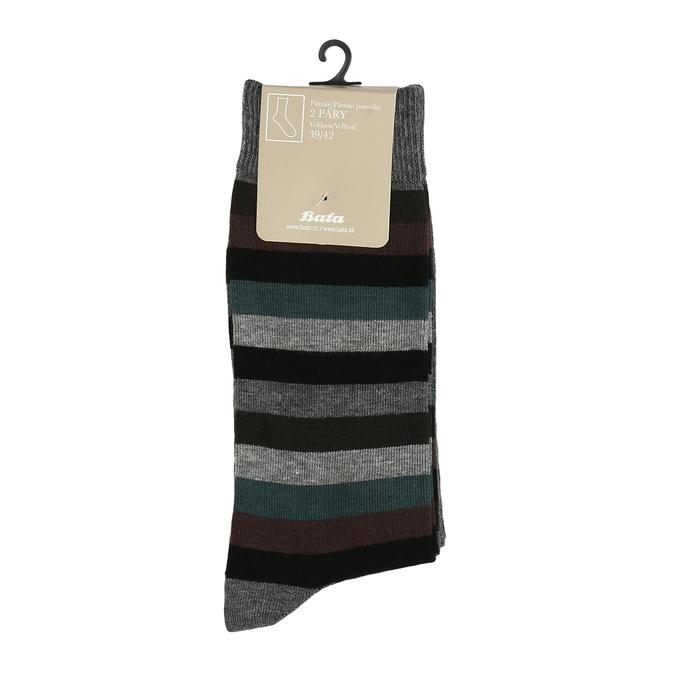 Pánske ponožky 2 páry bata, šedá, 919-2411 - 13