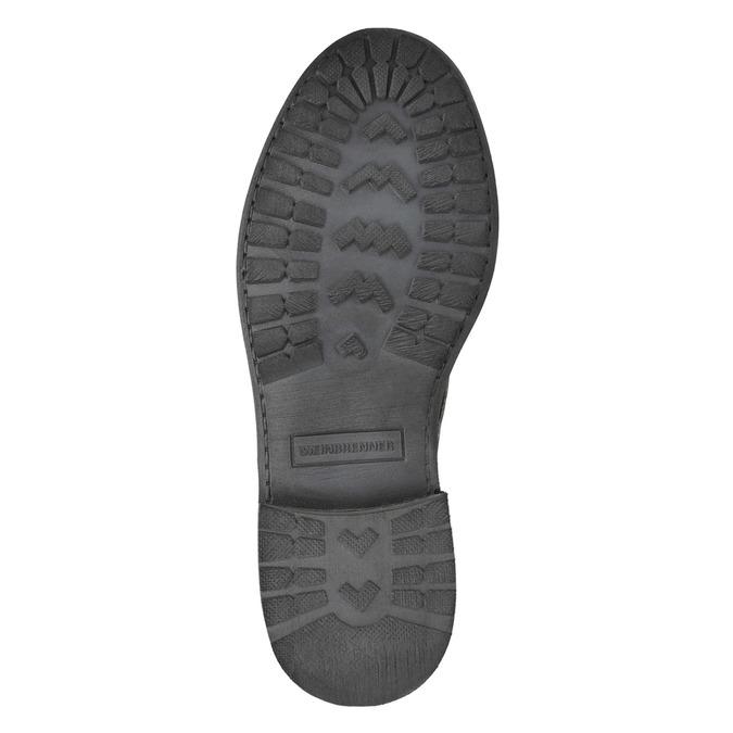 Dámska kožená členková obuv weinbrenner, šedá, 596-6632 - 26