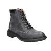 Dámska kožená členková obuv weinbrenner, šedá, 596-6632 - 13