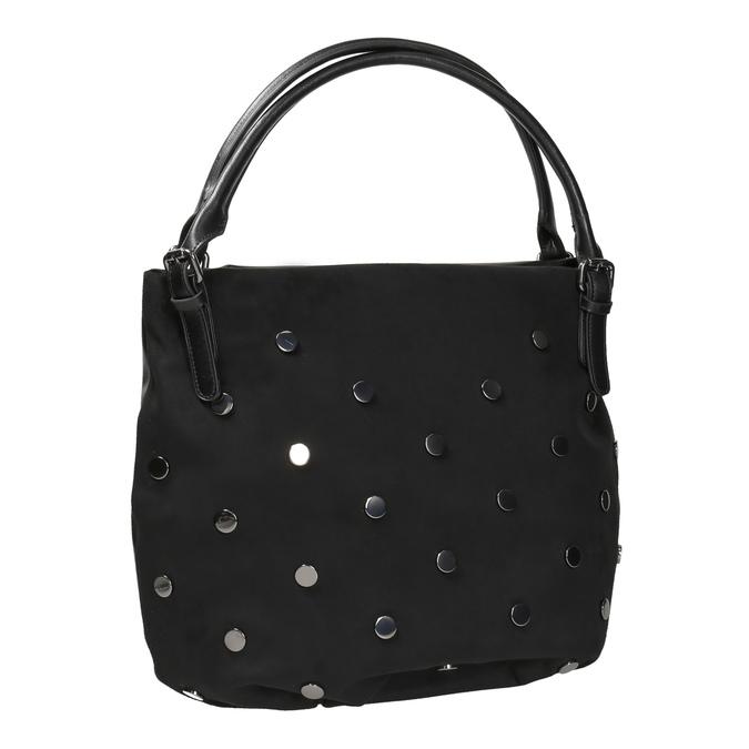 Dámska kabelka s kovovými cvokmi bata, čierna, 961-6256 - 13