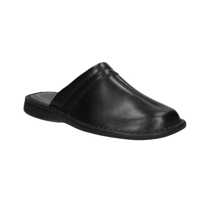 Pánske kožené nazuváky comfit, čierna, 874-6600 - 13