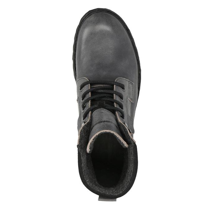 Kožené členkové topánky na výraznej podrážke weinbrenner, šedá, 896-2110 - 19