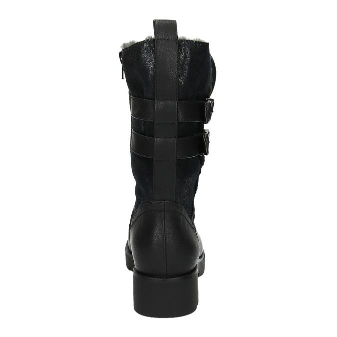 Štýlové dámske čižmy bata, čierna, 599-6610 - 17