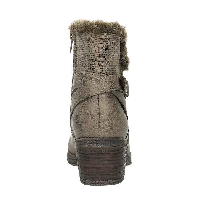 Dámske členkové čižmy bata, šedá, 699-2632 - 17