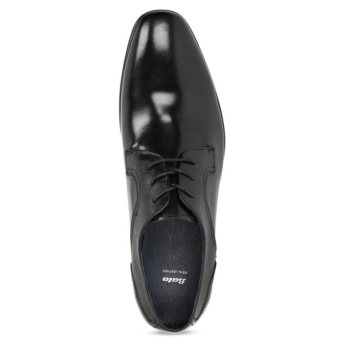 Kožené čierne pánske poltopánky bata, čierna, 824-6758 - 17