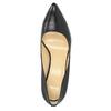 Čierne kožené lodičky bata, čierna, 726-6645 - 19